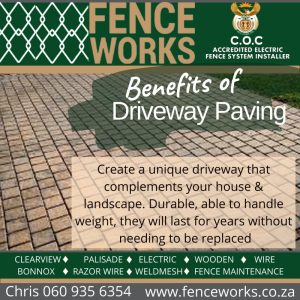 fenceworks driveway paving